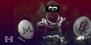 Fighter holding BTC and XMR