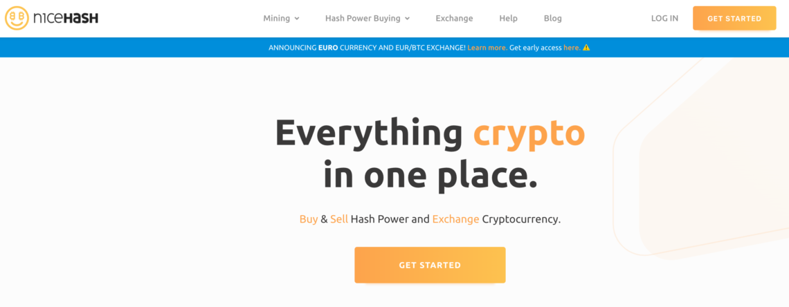NiceHash Website
