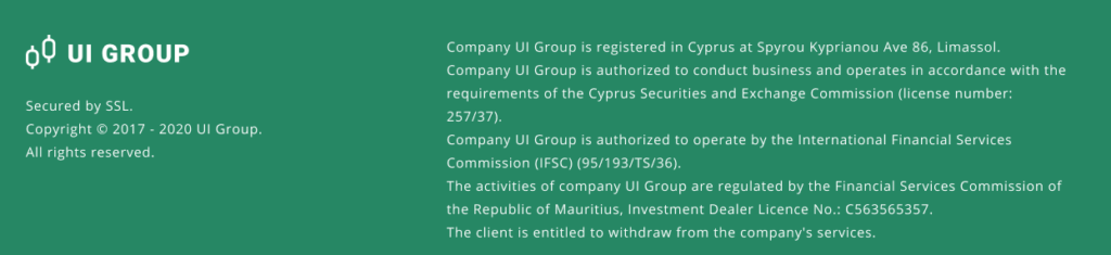 UI Group Scam Screenshot